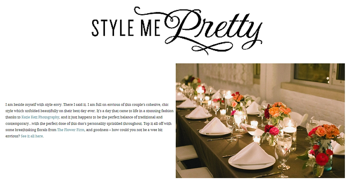 Style Me Pretty Blog Paramount Events Chicago