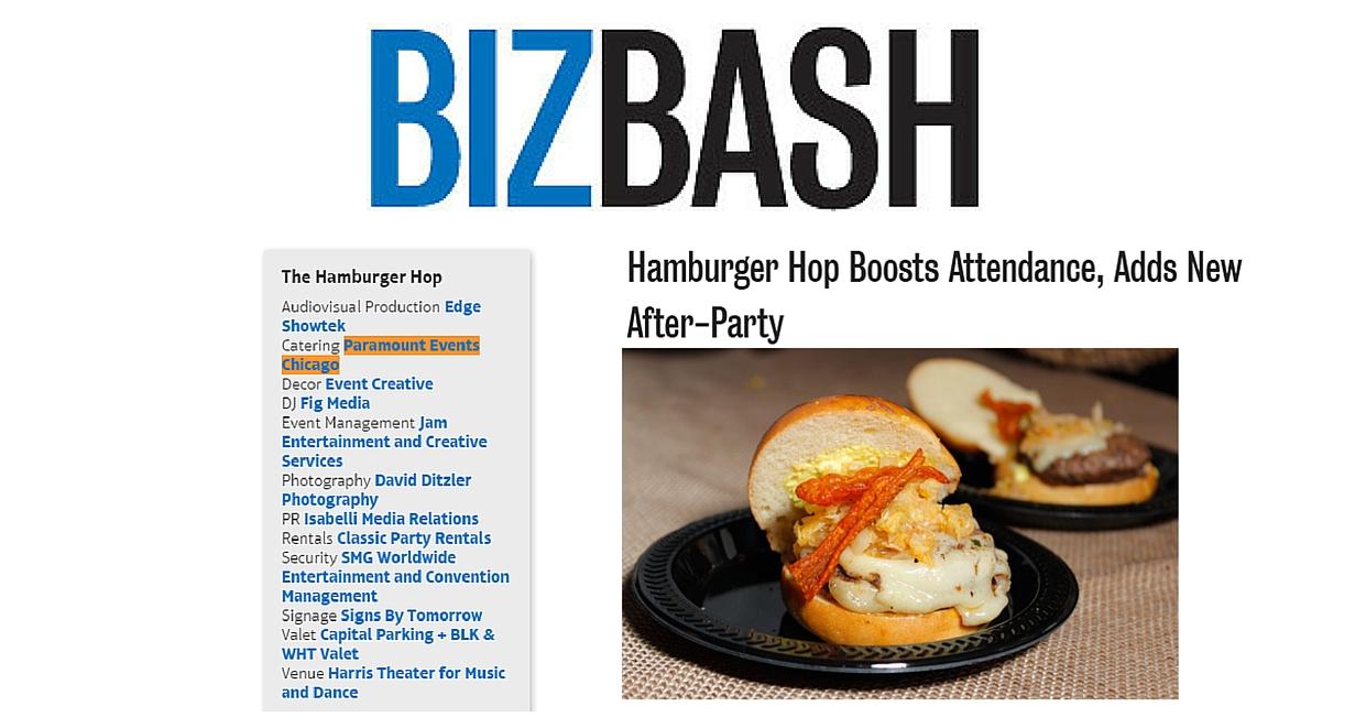 bizbash hamburger hop