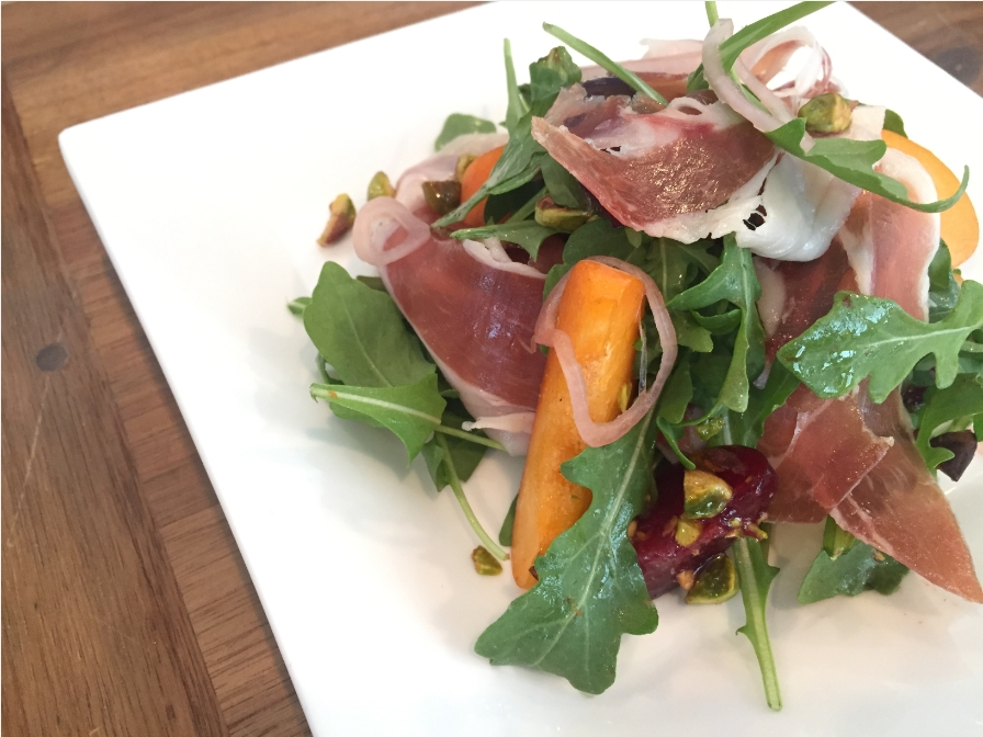 Plum Apricot Prosciutto Salad