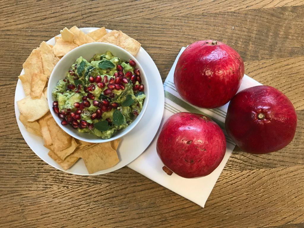 Avocado Pomegranate Dip