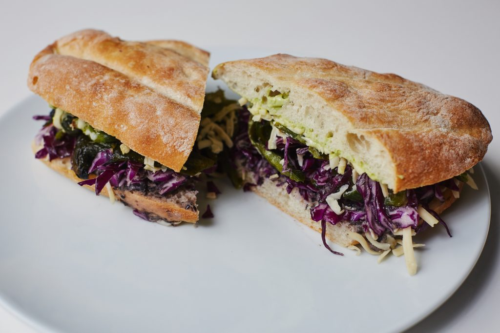Roasted Poblano Sandwich