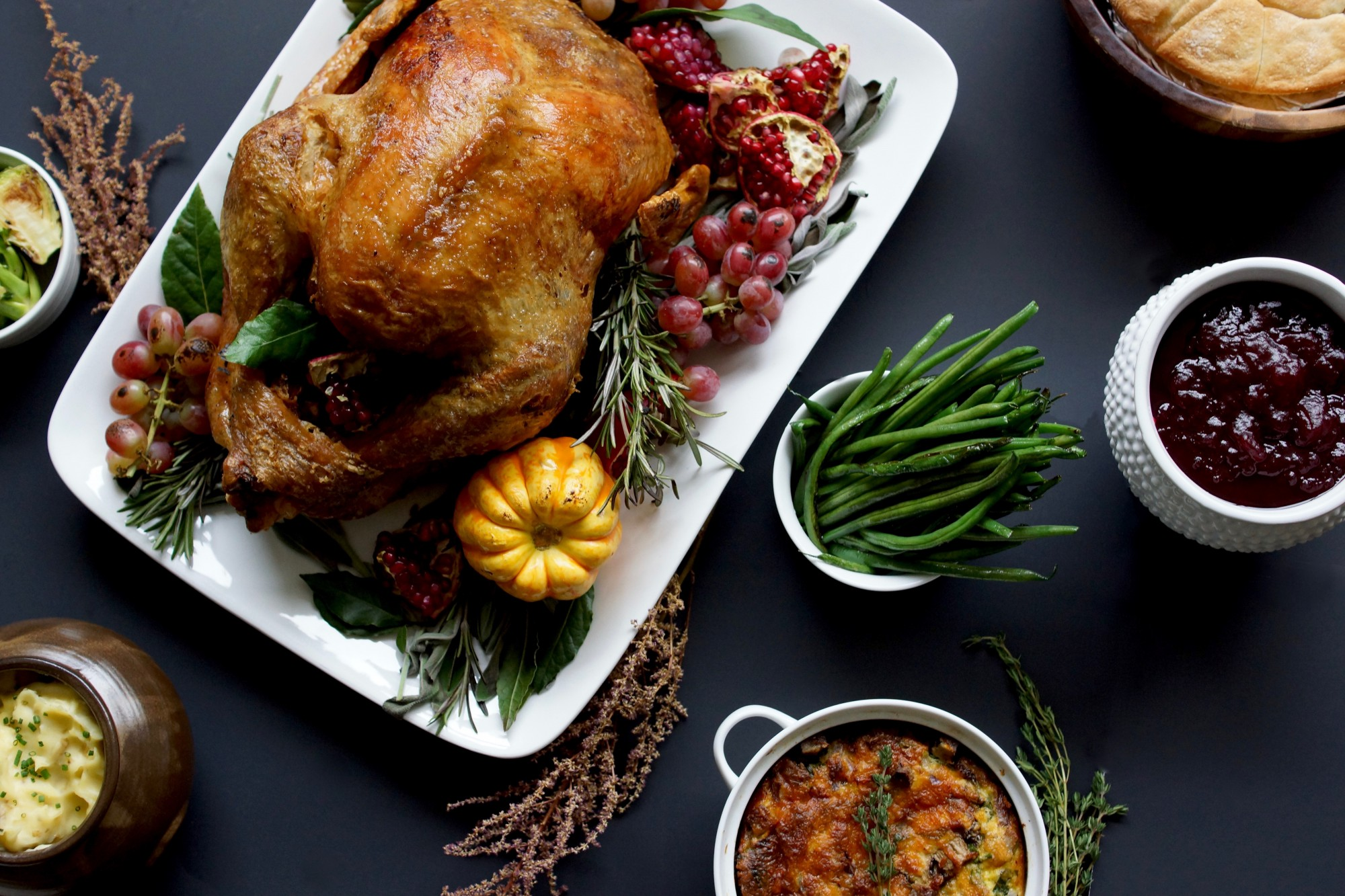 thanksgiving dinner from paramount events